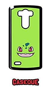 Caseque Bulbasaur Green Back Shell Case Cover for LG G3