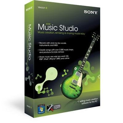 New Sony Creative Software Acid Music Studio 8 Music Creation Mixing For Original Song Creation