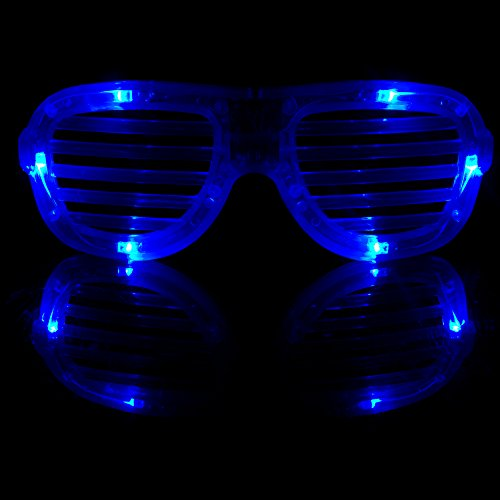 Fun Central R375 LED Light Up Slotted Shades - Blue