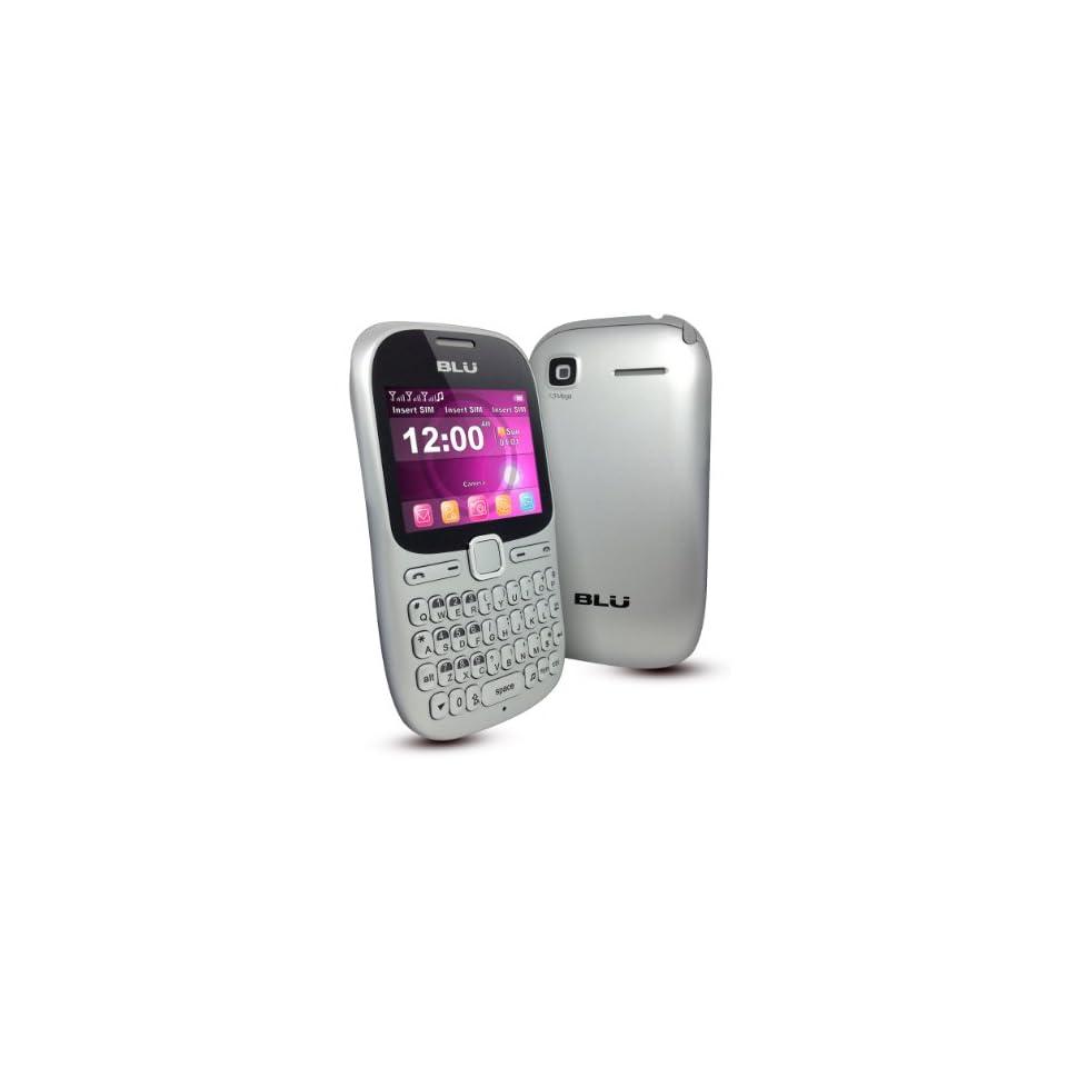 BLU Hero Pro Q333w Unlocked GSM Phone with Tri SIM, QWERTY Keyboard, 1.3MP Camera, Video Recorder, Analog TV, Wi Fi, Bluetooth, Stere FM Radio, /MP4 Player and microSD Slot   Silver