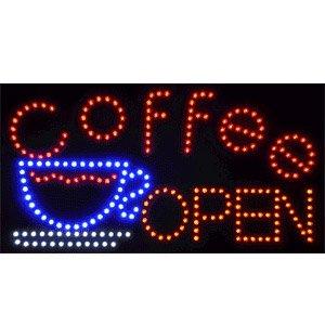 Simple Operation 22X13 Inch Coffee Window Electronic Flash Flashing Led Display Sign Shop Door Window Advertising Led Board Indoor Decor
