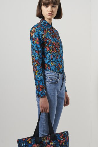 L!ve Long Sleeve Printed Woven Shirt