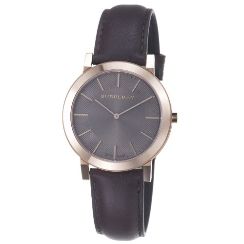 Burberry Men's BU2354 Slim Brown Dial Brown Leather Strap Watch