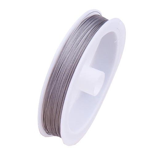 Tiger Tail Beading Wire - 90m / 0.35mm / Silver