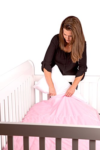 Baby Safe Pillow Pocket Crib Sheet, Pink