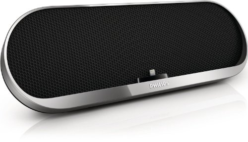 Philips Bluetooth Wireless Speaker With Fast Charging Lightning Dock Ds7880 For Iphone 5/Ipod (Silver)