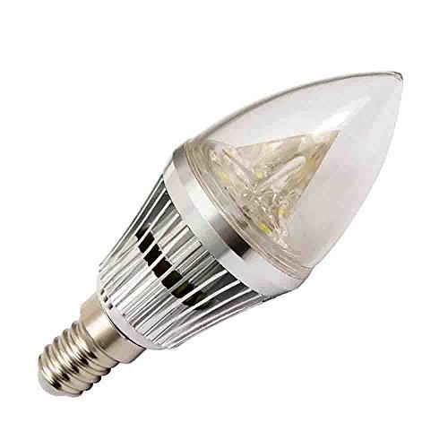 Tgm Led 4W E14 Led Candle Chandelier Light Lamp Super Bright 110V Soft White Bronze