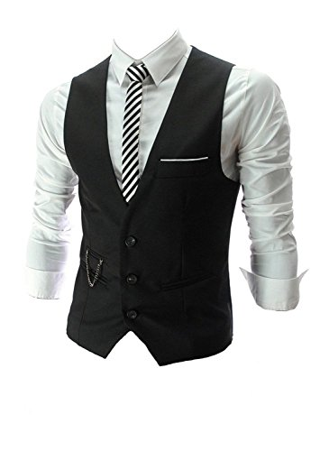 MARIR Vest V-neck Sleeveless Slim Fit Jacket Men Business waistcoat