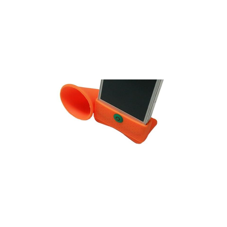 Curl Trumpet Speaker Style Design Soft Silicone Skin Gel Cover Case