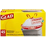 Glad Tall Kitchen Drawstring Trash Bags, 13 Gallon, 45 Count