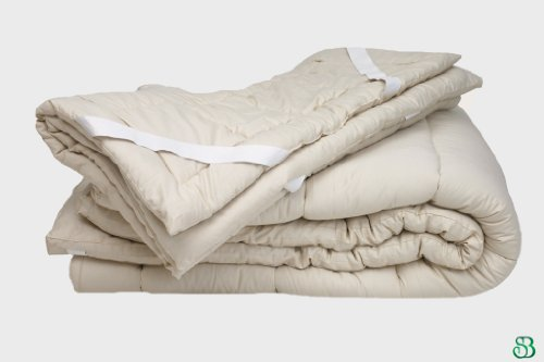 Quilted Organic Wool Mattress Topper Size: Queen 1.5