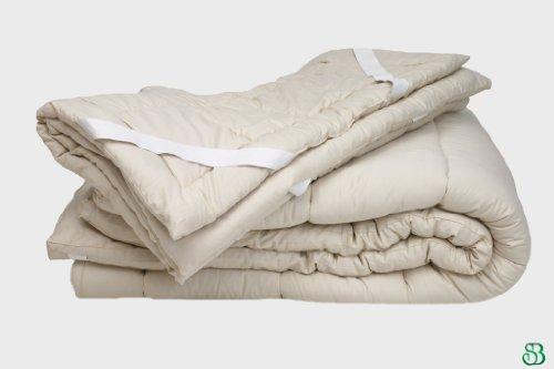 Quilted Organic Wool Mattress Topper Size: Queen 1.5