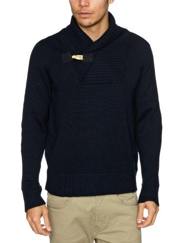 Alan Paine Rossendale Shawl Collar Men's Jumper Navy C48IN