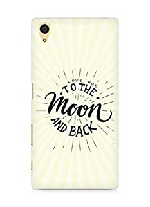 AMEZ love you to the moon and back Back Cover For Sony Xperia Z5