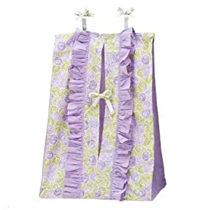 Flower Basket Lilac/green Diaper Stacker