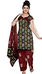 Riddhi Dresses Women's Cotton Unstitched Dress Material (Riddhi Dresses 97_Multi Coloured_Free Size)