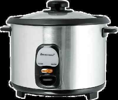 Brentwood Appliances Ts15 8 Cup Rice Cooker Stainless Steel Fast Ship