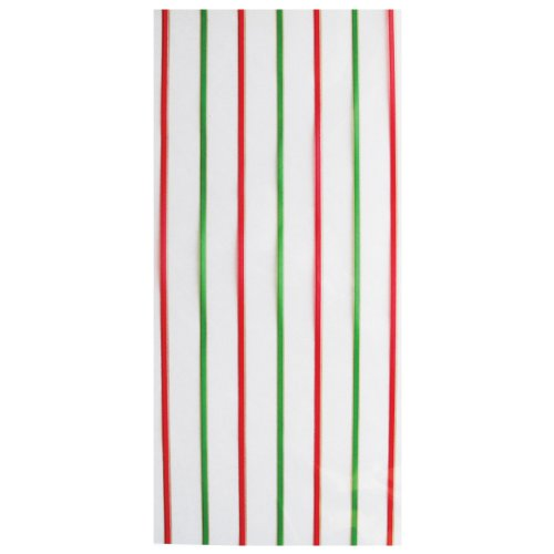 Jillson Roberts Small Christmas Cello Bags, Candy Line, 48-Count (XSC680)