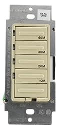 10/20/30/60 Minute Decora Preset Countdown Timer, 600W Incandescent, 5A Resistive, Single Pole, Various Colors Available, LTT60-1L