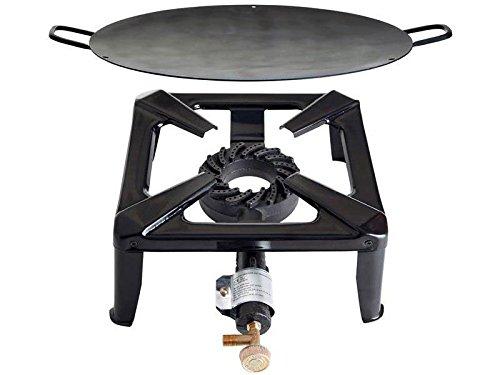 Hockerkocher 30x30x15cm & Eisen Grill Schale Ø 50 cm Gaskocher Paella Set 8,5 kw Paella Grillschale günstig bestellen