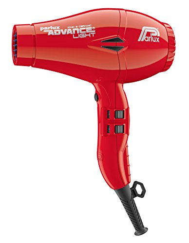 Parlux Advance Light Asciugacapelli Ionic & Ceramic, Rosso