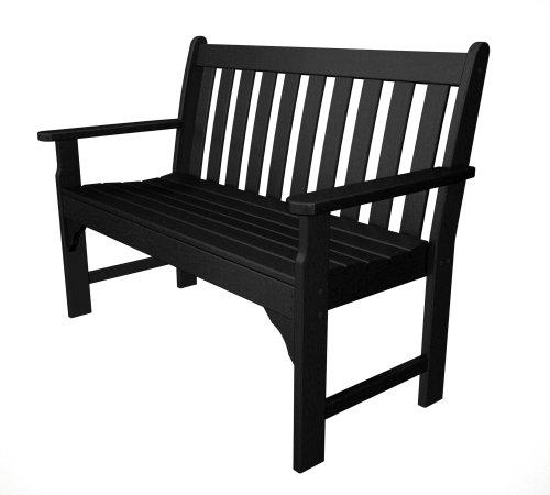 POLYWOOD GNB48BL Vineyard 48″ Bench, Black