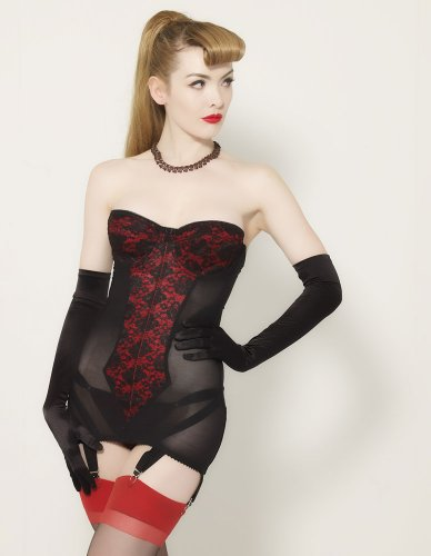 What Katie Did Lulu Red and Black Torsolette L2032