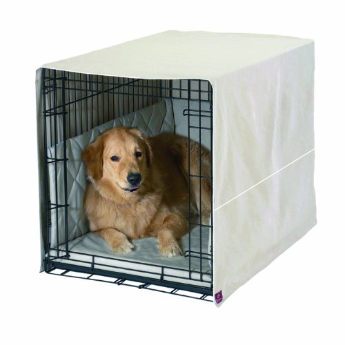 Pet Dreams Classic Cratewear Set Khaki Fits 48-Inch Crates, 3-Piece