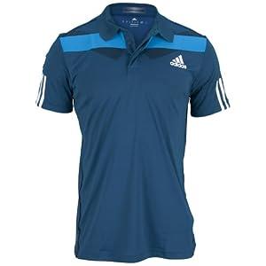 Buy Adidas Mens Tennis Adipower Barricade Traditional Polo (Tribe Blue White Solar Blue) by adidas
