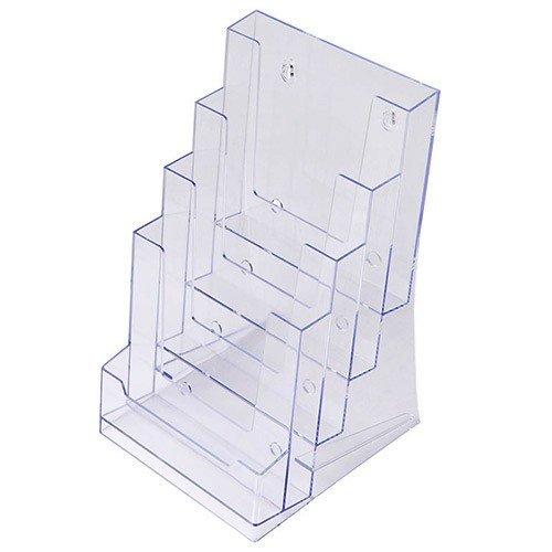 Format a5-présentoir pour brochures à fixer vierstufig support en acrylique