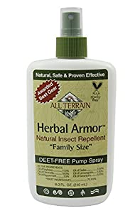 All Terrain Herbal Armor DEET-Free Natural Insect Repellent Spray (4-Ounce)