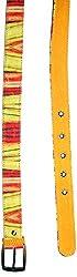 Jajv Women's Canvas Belts (VJ Acc Bamb, Yellow, M)