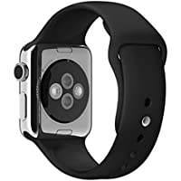 Apple Watch Band,Covery? Soft Silicone Fitness Replacement Sport Band For Apple Watch (38mm/Black)