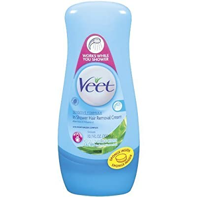 Best Cheap Deal for Veet in Shower Hair Removal Cream, Sensitive Formula, Aloe Vera & Vitamin 10.1 Fl Oz (300 Ml) (Pack of 3) from Veet - Free 2 Day Shipping Available