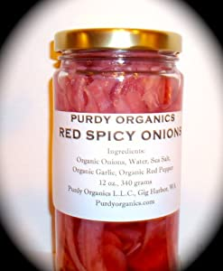 Organic Hot Spicy Red Onions12 oz