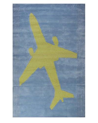 Meva Rugs Juvenile Hand Tufted Rug, Blue, 5' x 8'