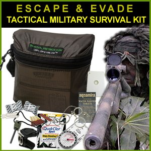 Escape & Evade Tactical Military Survival Kit by Survival Metrics