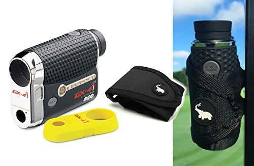 Leupold GX-4i2 Rangefinder with Magnetic Cart Mount (Black) Bundle | Includes Golf Laser Rangefinder, Magnetic Golf Cart Mount, Carrying Case & One (1) CR2 Battery