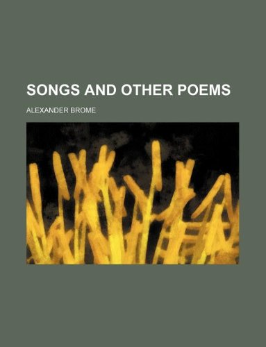 Songs and other poems