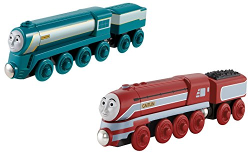 Fisher-Price Thomas the Train Wooden Railway Connor AND Caitlyn (Fish Bowl Toy Fisher Price compare prices)