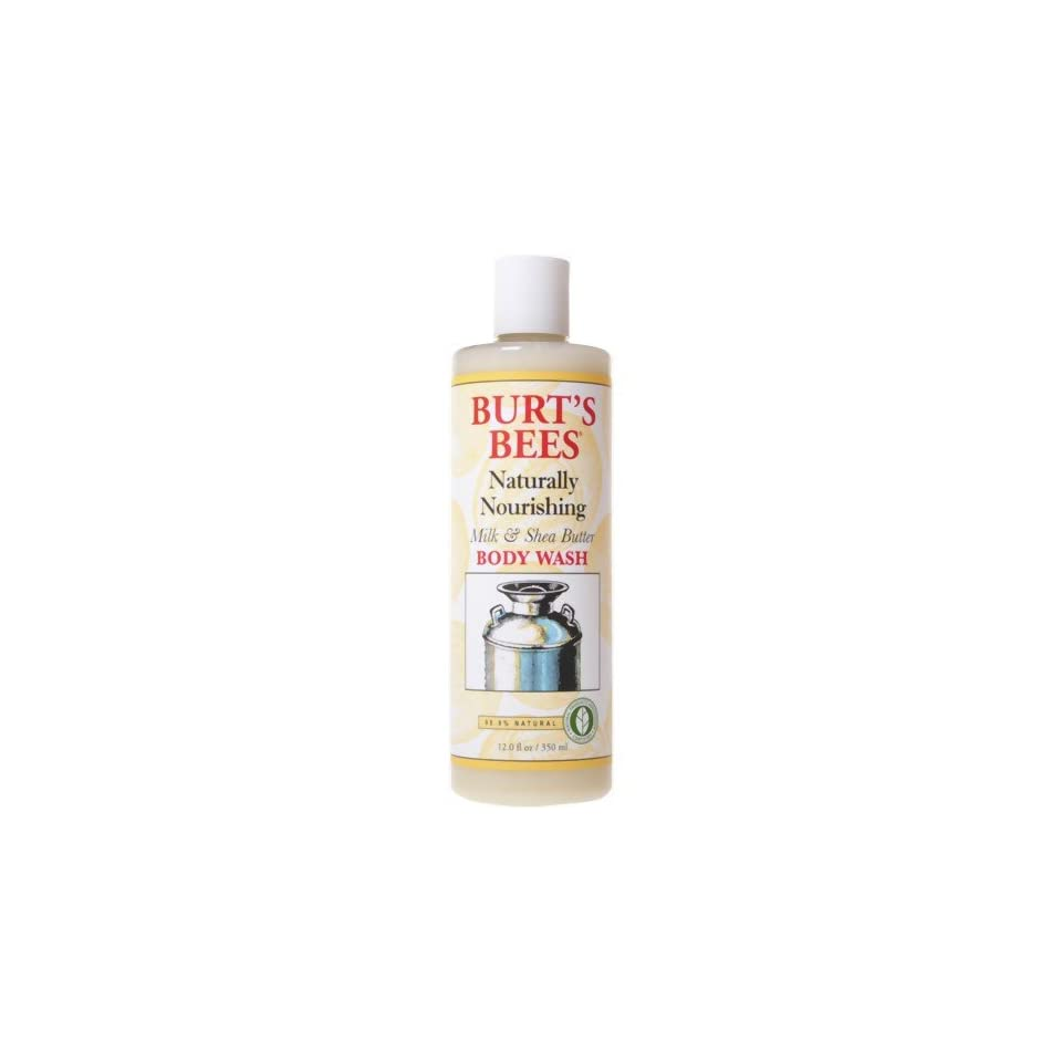 Burts Bees Milk & Shea Butter Body Wash, 12 Ounce Bottles (Pack of 2)