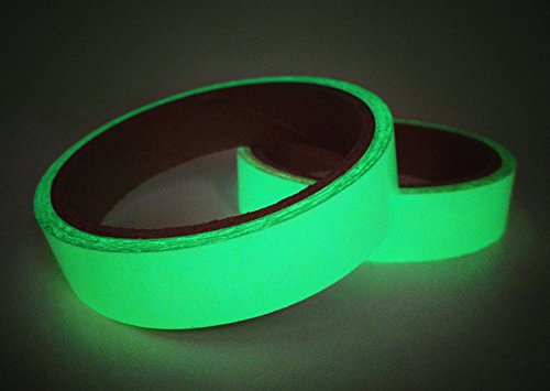 Luminous Tape Sticker ,Removable Waterproof Photoluminescent Glow in the Dark Safety Tape, 10' Length x 0.8