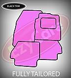 SUZUKI WAGON R TAILORED CAR MATS PINK & BLACK TRIM