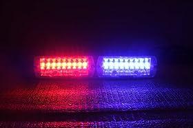 Haywardled Car 16-led 18 Flashing Mode Emergency Vehicle Dash Warning Strobe Flash Light Red Blue