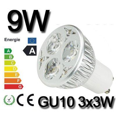 *Himanjie*3W 4W 6W 8W 9W LED SPOT LAMPE Strahler Licht warmweiß GU10 3X1W 4X1W 3X2W 4X2W 3X3W SMD Energiesparlampe Warmlicht nicht dimmbar (9 Watt)