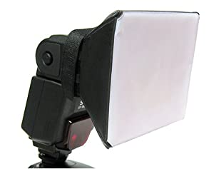 Opteka SB-1 Mini Universal Studio Soft Box Flash Diffuser for Canon EOS, Nikon, Olympus, Pentax, Sony, Sigma and Other External Flash Units