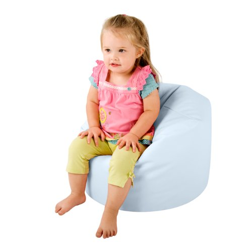My 1st Bean Bag - Faux Leather Childrens Bean Bags BABY BLUE - Small Kids Bean Bag