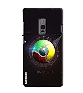 Omnam Google Chrome Logo Blend With Galaxy Effect Printed Designer Back Cover Case For OnePlus Two
