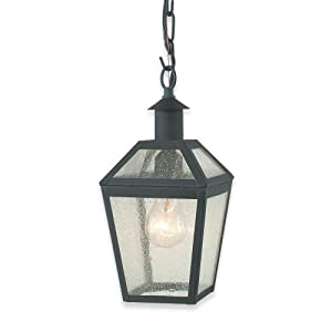 Click to read our review of Royce Lighting Outdoor Convertible Lantern Black with Clear Seeded Globe