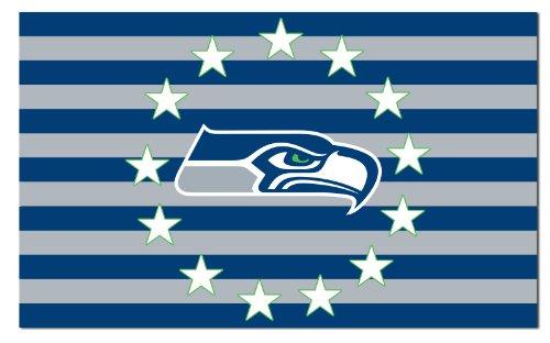 NEOPlex - Seattle Seahawks Stars & Stripes 3' x 5' Flag